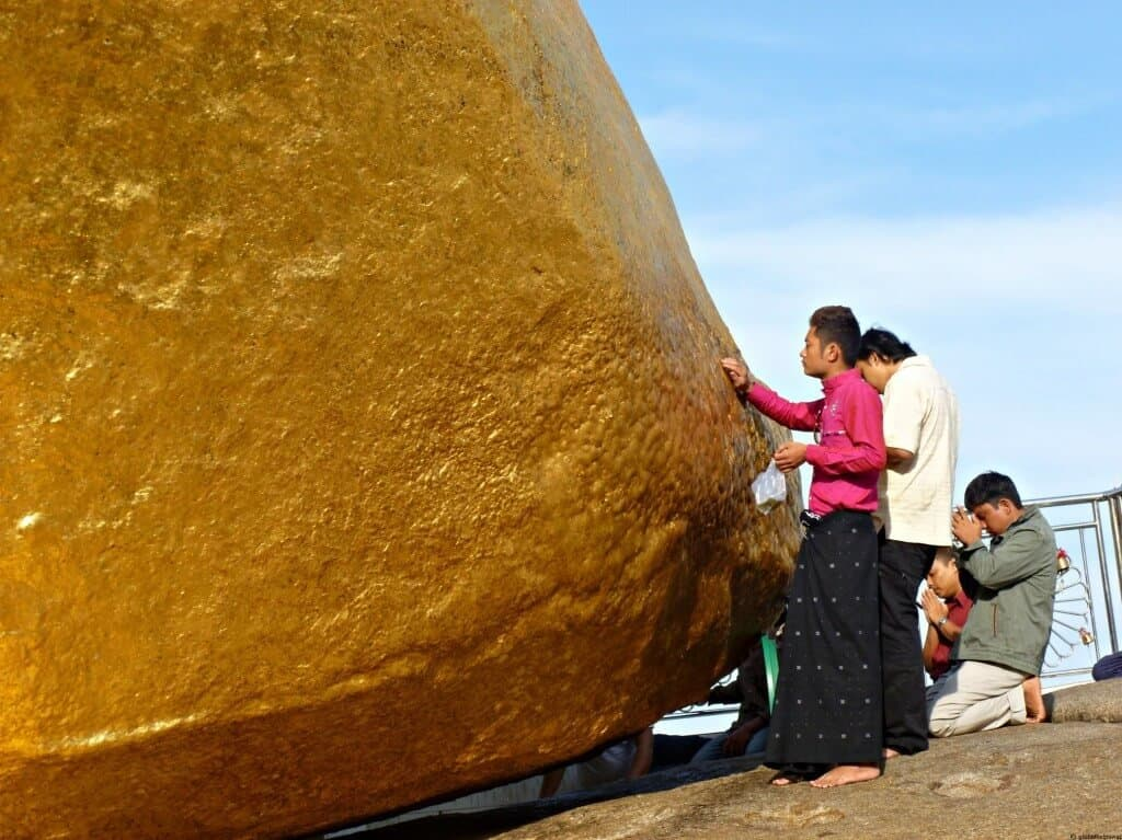 A visit to the Golden Rock, Burma