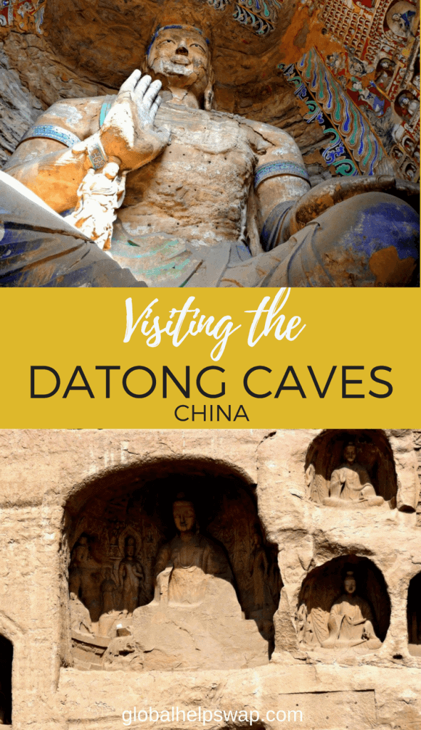 The Datong Caves in Northern China are a 4th century BC ancient buddhist site with giant buddhas carved from stone in the caves.