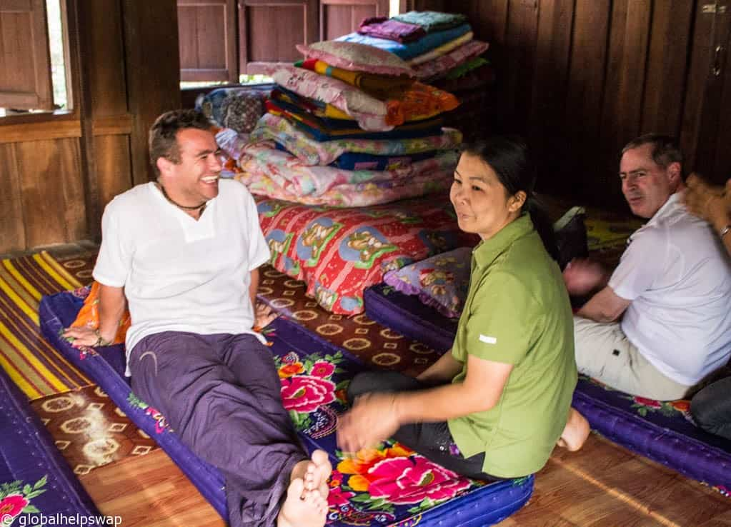 Sleeping in a homestay in Thailand