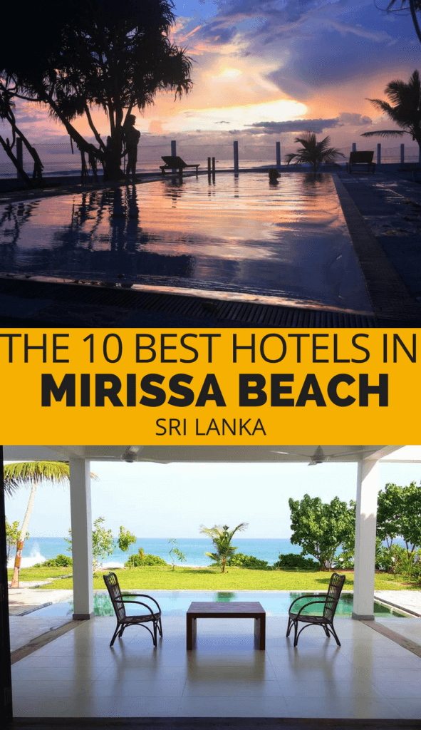 The best hotels in Mirissa Beach from budget to luxury. Check out the accommodation in Mirissa Sri Lanka before you go.