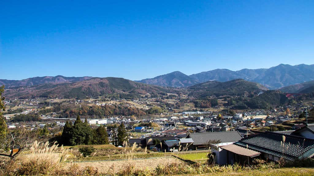 Views of Ochiai on the Nakasendo Highway