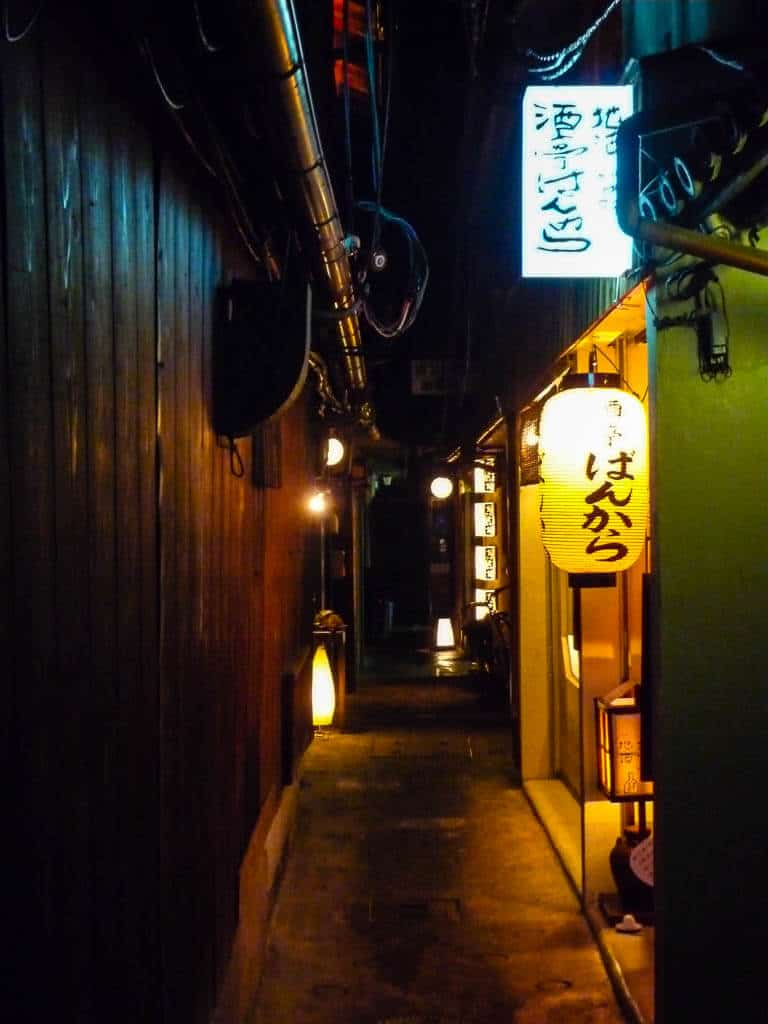 Discreet restaurants in the Ponotcho Geisha District Kyoto