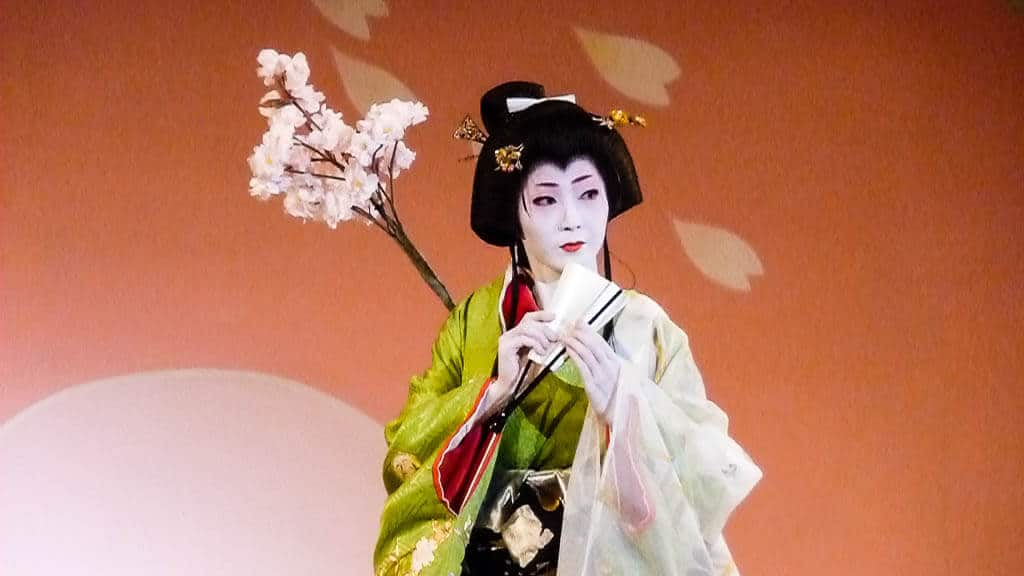 A Geisha performing in Kyoto