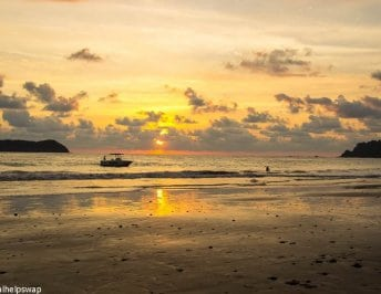 Sunset near Manuel Antonio Beach