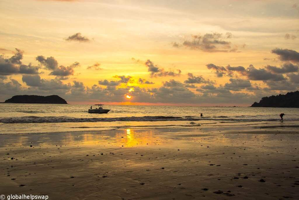 Sunset near Manuel Antonio Beach