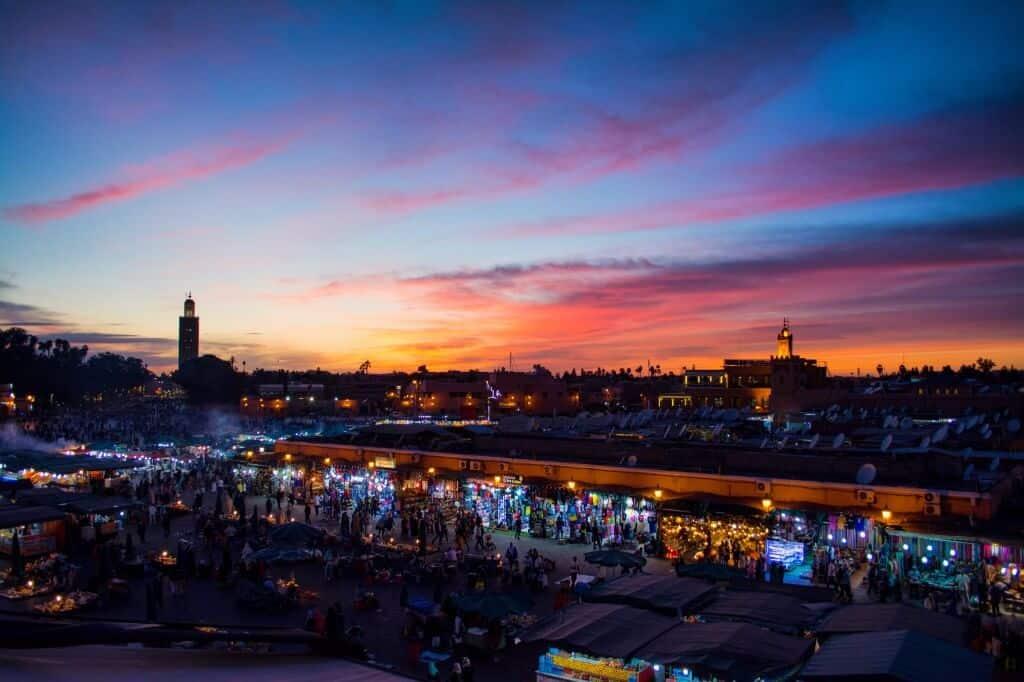 The medina in Marrakesh, Morocco, Africa