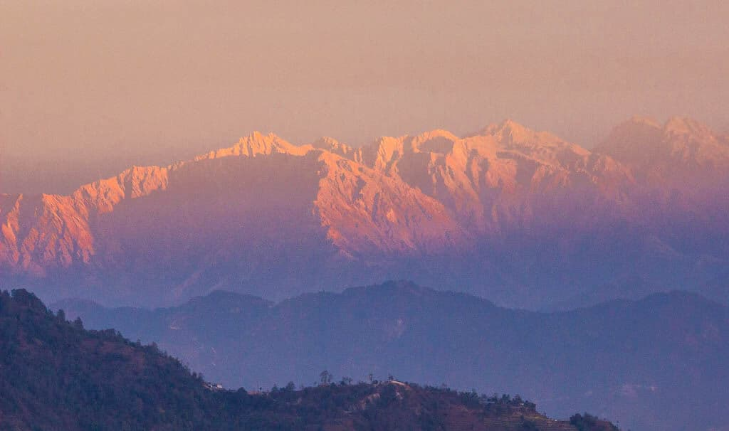 Views of the Himalayan Mountains from Nagarkot