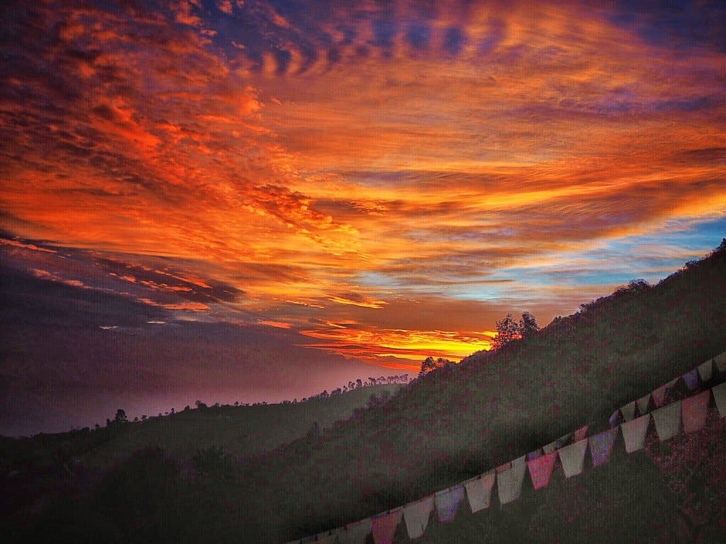 Sunrise in Nagarkot, Nepal