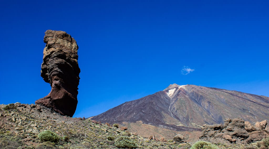 Rock formations in teide national park