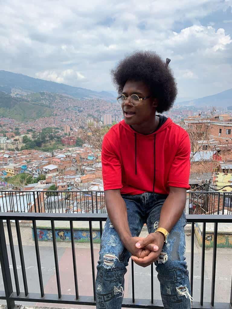Our guide in Comuna 13 Medellin Colombia