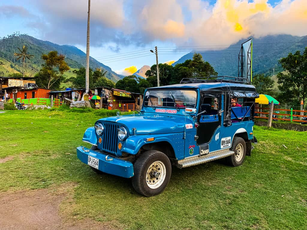 A jeep in Colombia