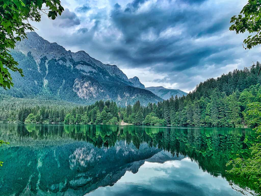 Lake Tovel in Brenta Nature Park, Trentino
