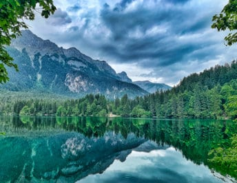 Lake Tovel in Brenta Nature Park, Trentino