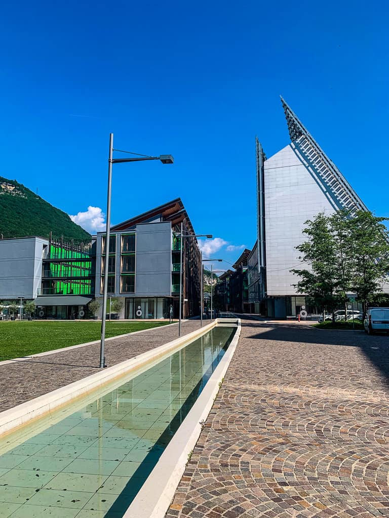 The university side of Trento in Trentino has very modern architecture