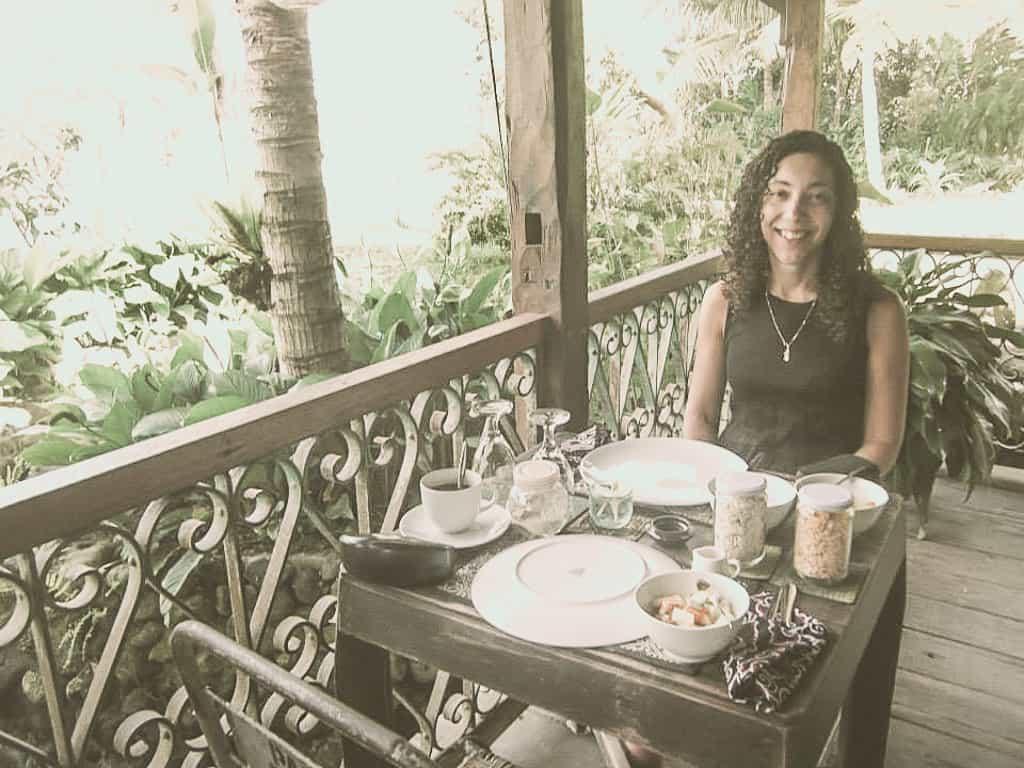 Me in a homestay in Bali.