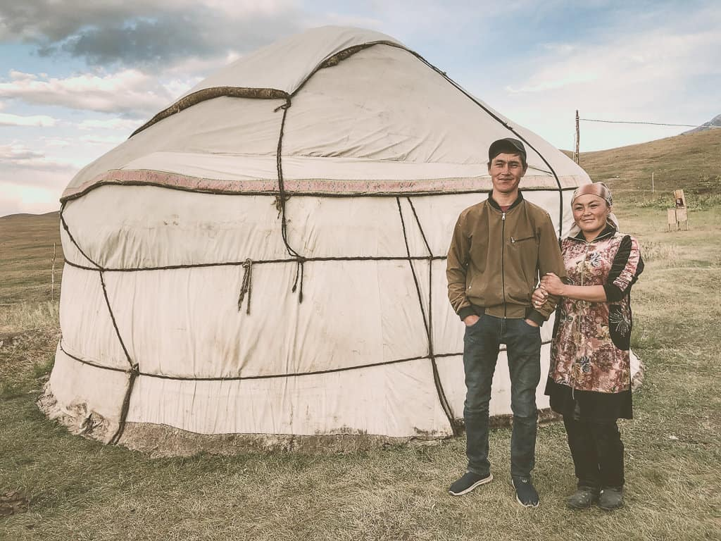 Staying in a yurt camp run by local families in Kyrgyzstan.