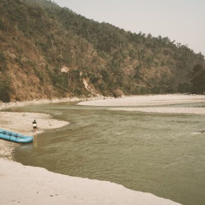 Camping on the seti river, Nepal