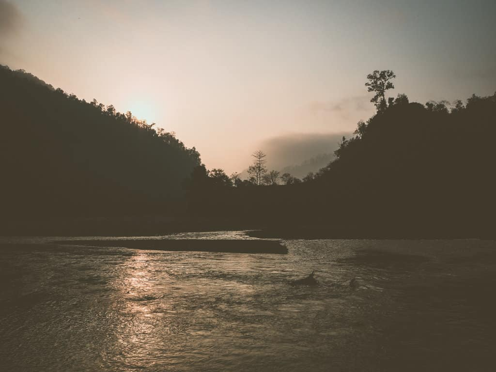 Sunrise over the Seti River