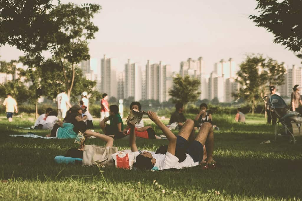 Relax in Hangang Park