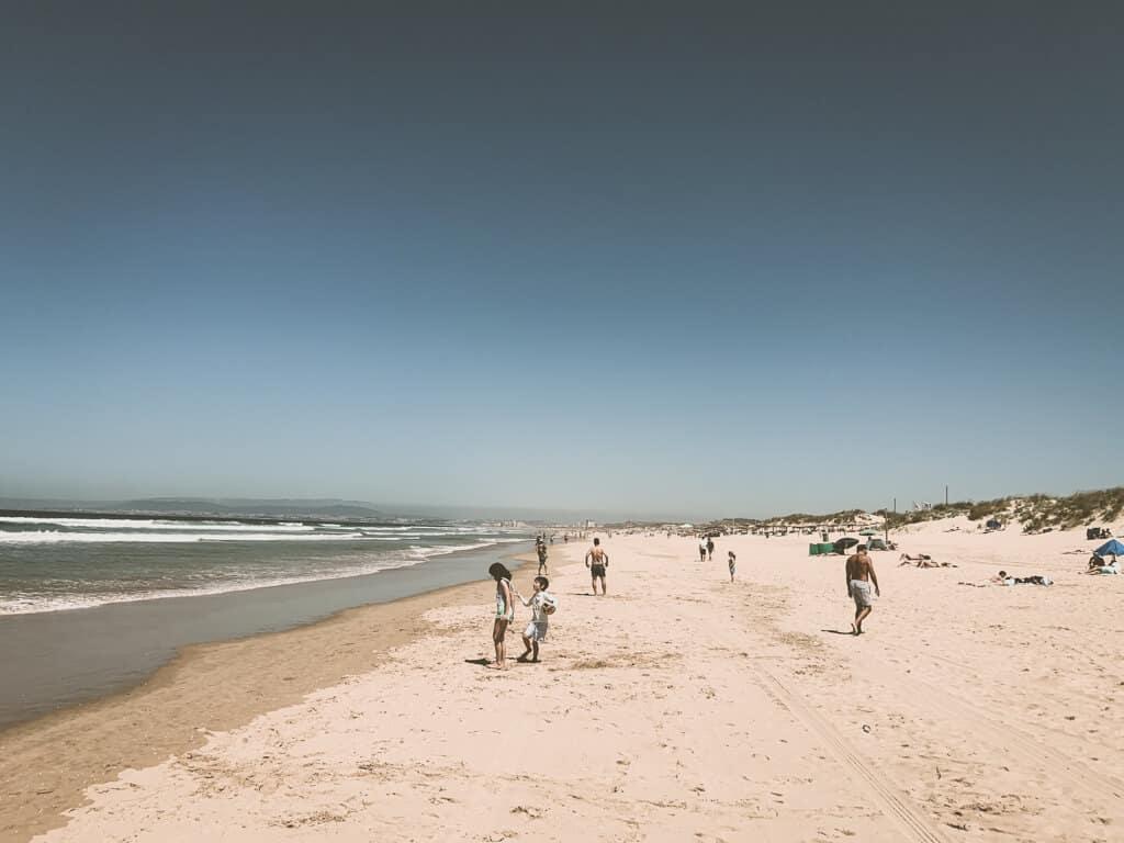 Locals on the beach near Lisbon